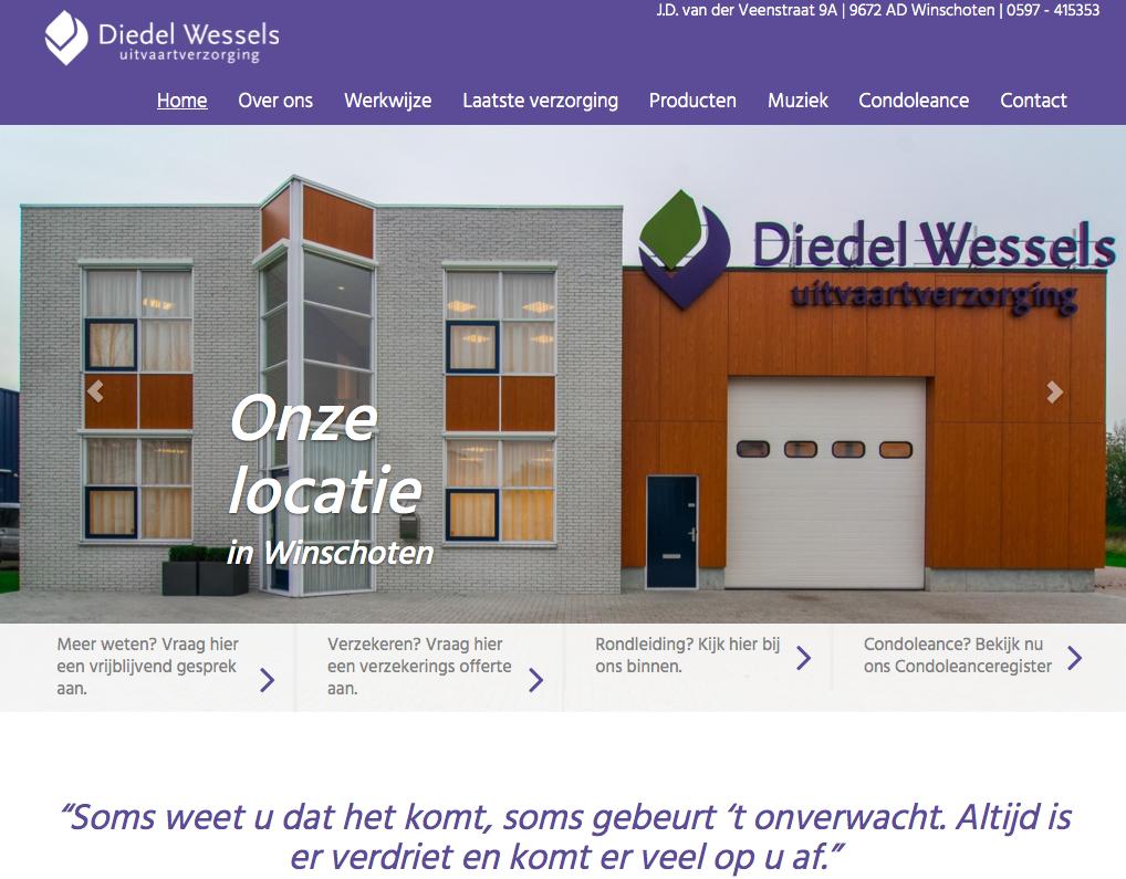 Ten Have Tekst schreef de SEO webteksten voor de website vanDiedel Wessels Uitvaartverzorging in Winschoten en Veendam