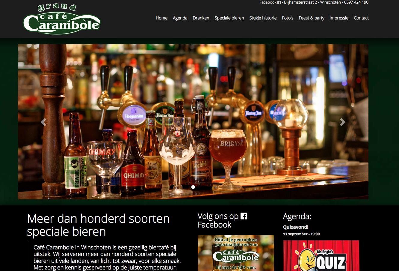 Ten Have Tekst verzorgde SEO copywriting voor de gloednieuwe website van Café Carambole in Winschoten