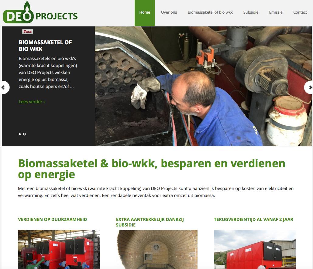 Ten Have Tekst coördineerde een communicatieproject voor DEO Projects, bestaande uit de bouw en invulling van een gloednieuwe website en de ontwikkeling van een nieuwe huisstijl met logo