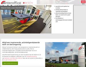 Als SEO copywriter verzorgde Ten Have Tekst de webteksten voor de nieuwe website van Interoffice Projecten. Met deze website laat Interoffice Projecten zich in woord, beeld en uitstraling zien als een toonaangevende speler in op de Nederlandse markt van projectinrichting.