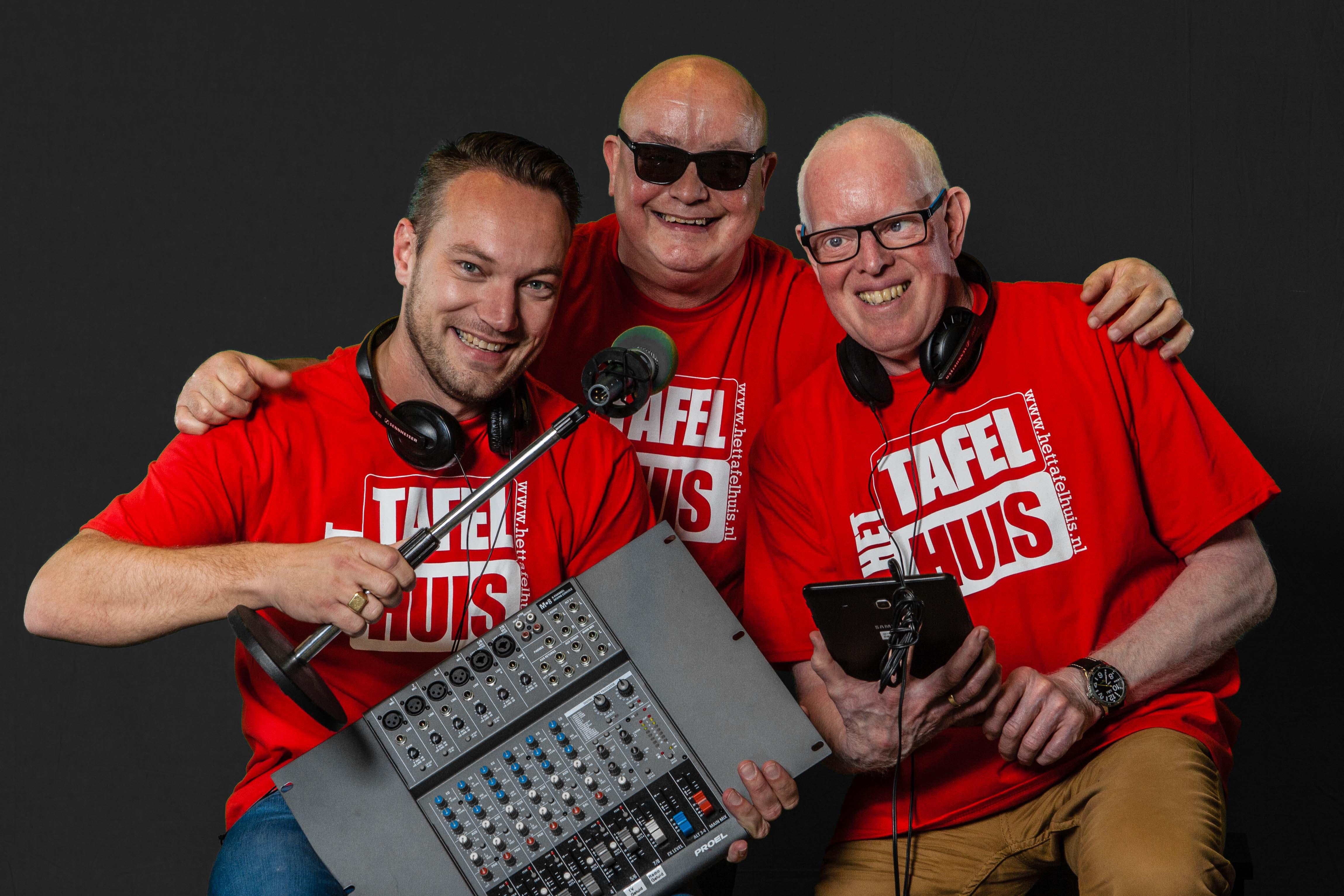 Persbericht Oost-Groningen - de drie DJ's van Tafelhuis Oost-Groningen 2016.