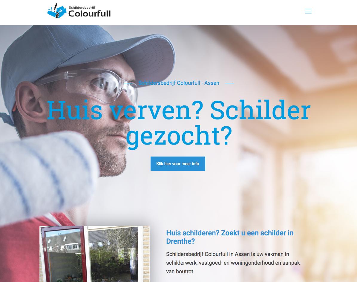 Voor de gloednieuwe website van Schildersbedrijf Colourfull in Assen mocht Ten Have Tekst de webteksten schrijven. Het betrof SEO-webcontent, dij bijdraagt aan de organische vindbaarheid van de site in Google en andere zoekmachines.