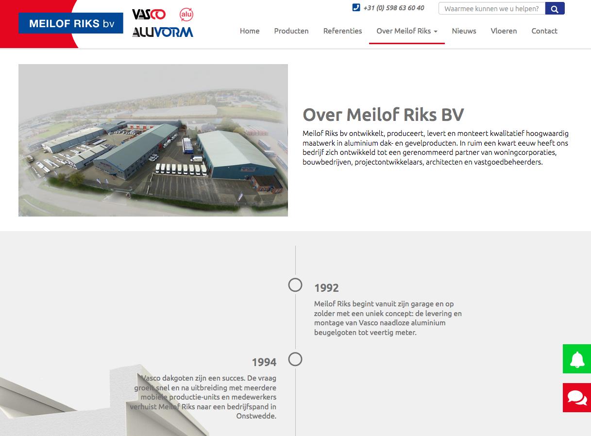 ten Have tekst schreef de SEO-webteksten voor de nieuwe website van meilof Riks bv in Veendam. Ook schreef Ten Have tekst een eerste klantreferentie en nieuwsbrief voor Meilof Riks bv, een samenwerking die volgens afspraak structurele vorm krijgt.